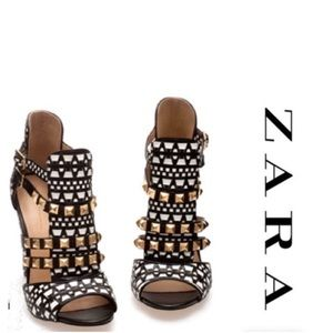 Zara tribal studded heels